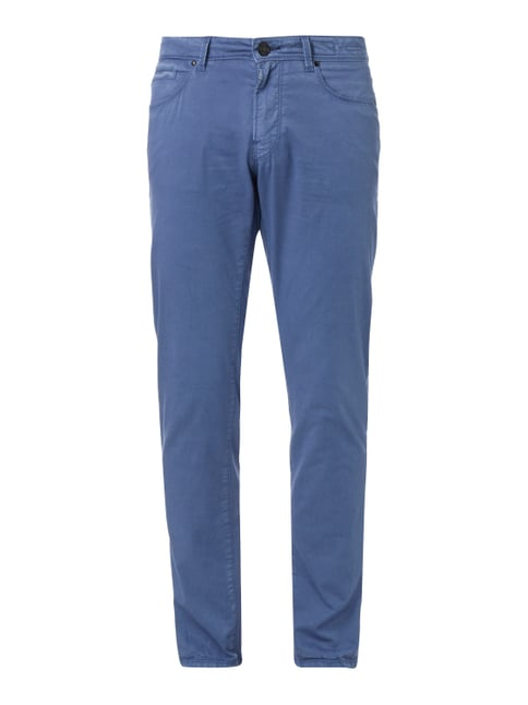Classic Fit 5-Pocket-Hose mit Stretch-Anteil Blau / Türkis - 1
