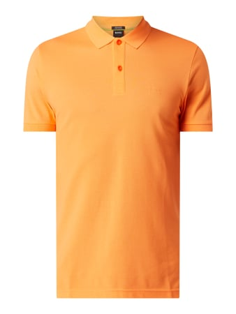 BOSS Athleisurewear Poloshirt aus Piqué Orange - 1