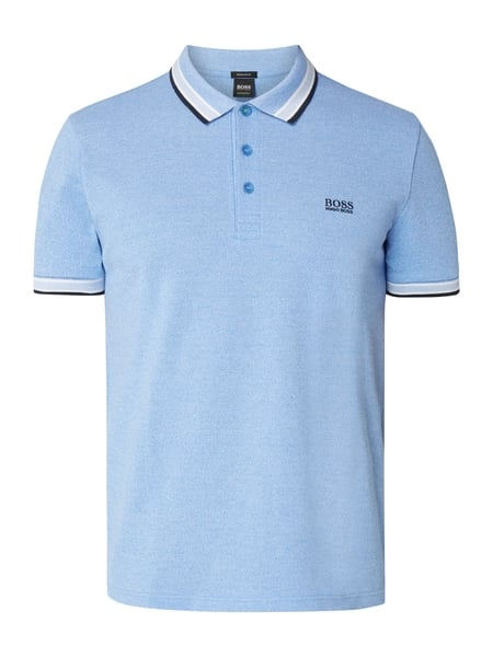 Boss Green Paddy - Regular Fit Poloshirt aus Baumwoll-Piqué Dunkelblau