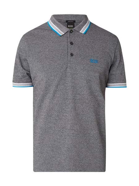 Boss Green Paddy - Regular Fit Poloshirt aus Baumwoll-Piqué Schwarz