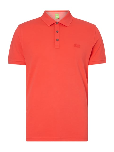 Regular Fit Poloshirt aus Piqué Rot - 1