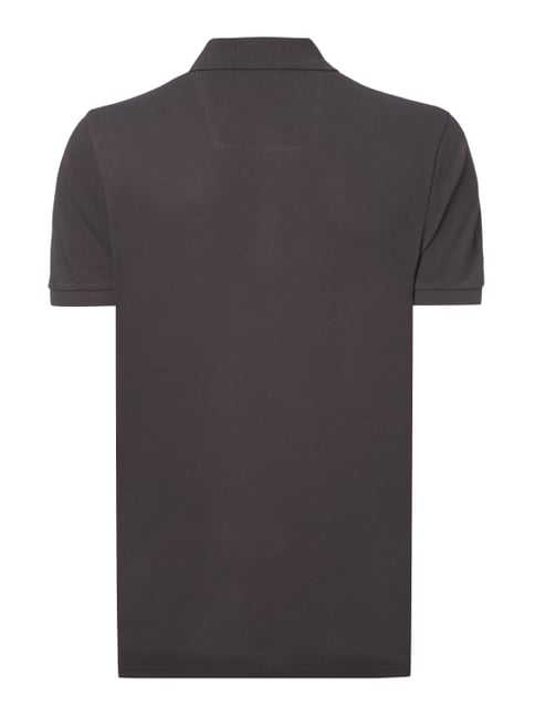 Boss Green Regular Fit Poloshirt aus Piqué Mittelgrau - 1