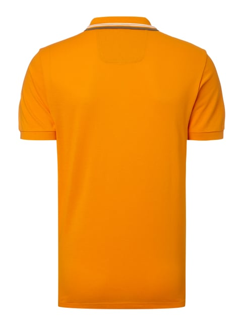 Boss Green Regular Fit Poloshirt mit Kontraststreifen Orange - 1