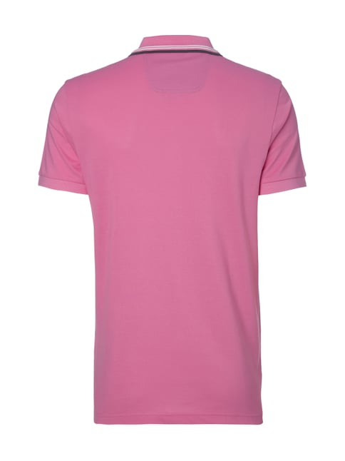 Boss Green Regular Fit Poloshirt mit Kontraststreifen Pink - 1