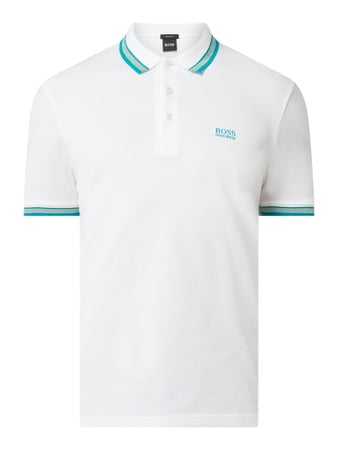 BOSS Athleisurewear Regular Fit Poloshirt mit Logo-Stickerei Modell 'Paddy' Weiß - 1