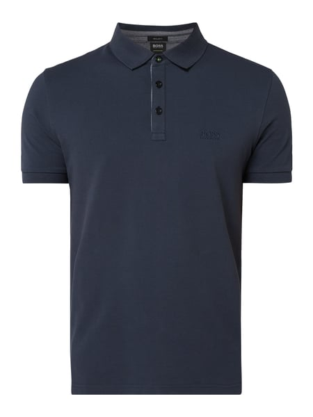 Boss Athleisure Regular Fit Poloshirt mit Logo-Stickerei Blau - 1