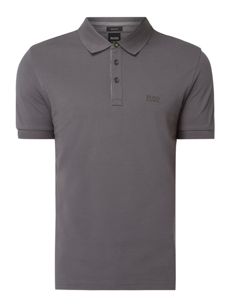 Boss Athleisure Regular Fit Poloshirt mit Logo-Stickerei Modell 'Peos' Grau - 1