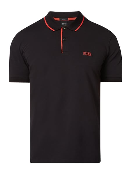 Boss Athleisure Regular Fit Poloshirt mit Logo-Stickerei Grau / Schwarz - 1