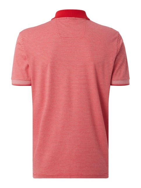 Boss Green Regular Fit Poloshirt mit Streifenmuster Rot - 1