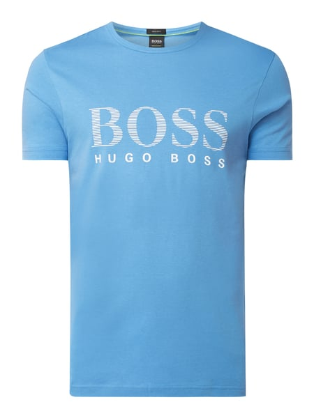 Boss Athleisure Regular Fit T-Shirt mit Logo-Print Modell 'Teeos' Blau - 1