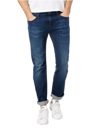 Boss Green Rinsed Washed Slim Fit 5-Pocket-Jeans Dunkelblau - 1