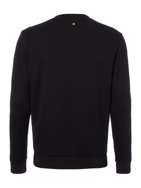 Boss Green Slim Fit Sweatshirt mit Logo-Stickerei Schwarz - 1