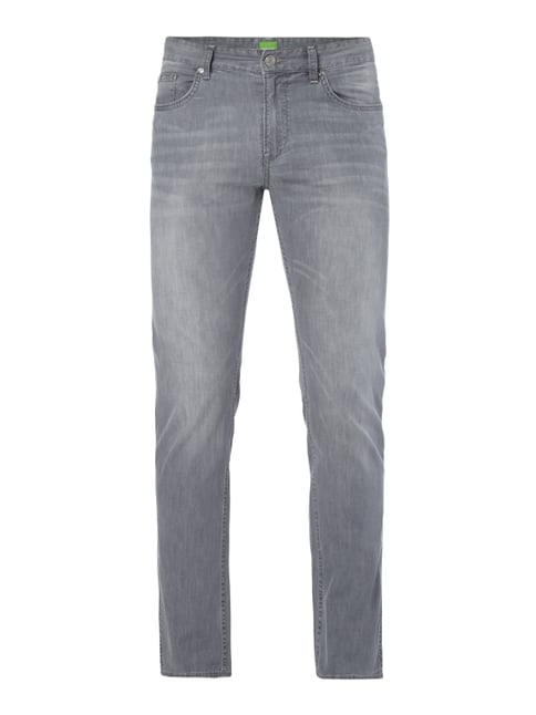 Stone Washed 5-Pocket-Jeans Grau / Schwarz - 1