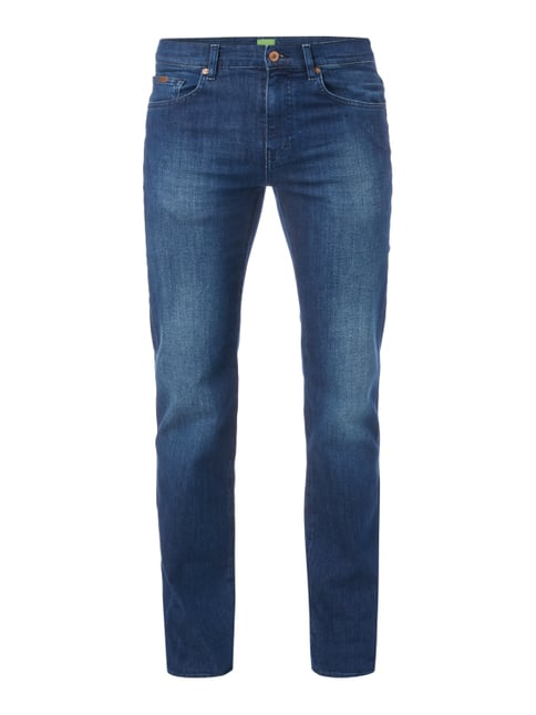 Stone Washed Relaxed Fit 5-Pocket-Jeans Blau / Türkis - 1