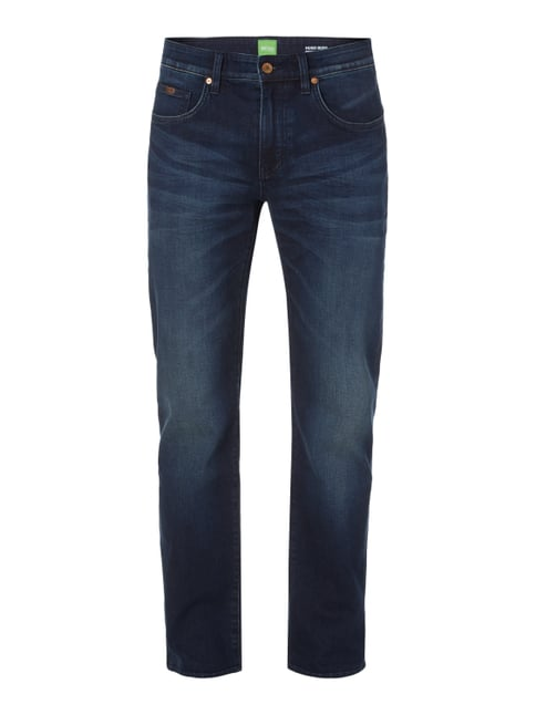 Stone Washed Relaxed Fit Jeans Blau / Türkis - 1