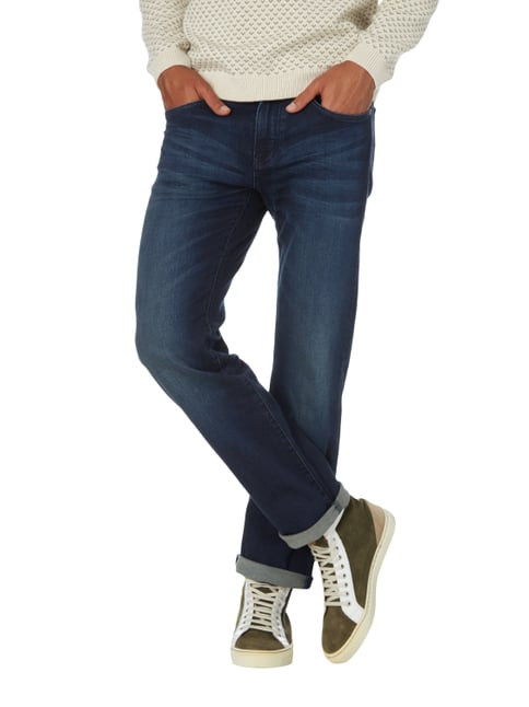Boss Green Stone Washed Relaxed Fit Jeans Dunkelblau - 1