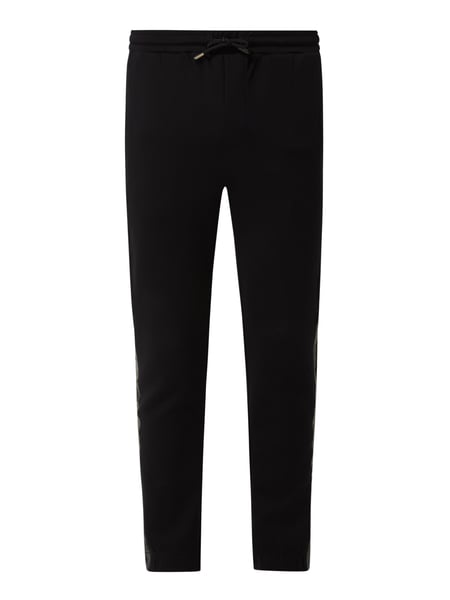 BOSS Athleisurewear Sweatbroek met stretch, model 'Hadiko' Zwart - 1