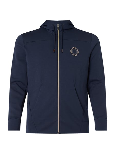 BOSS Athleisurewear Sweatjacke mit Kapuze Modell 'Saggy Circle' Blau - 1
