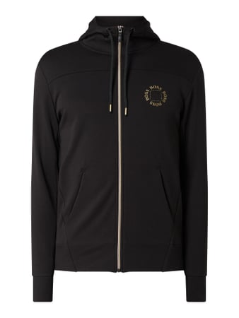 BOSS Athleisurewear Sweatjacke mit Kapuze Modell 'Saggy Circle' Schwarz - 1