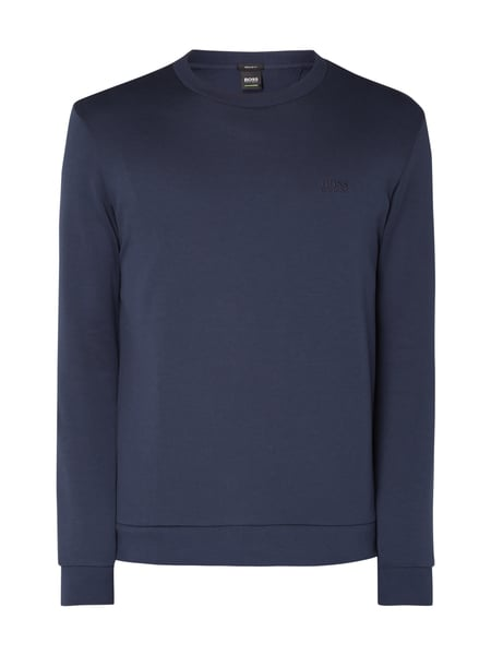 Boss Green Salbo 1 - Sweatshirt mit Logo-Stickerei Marineblau