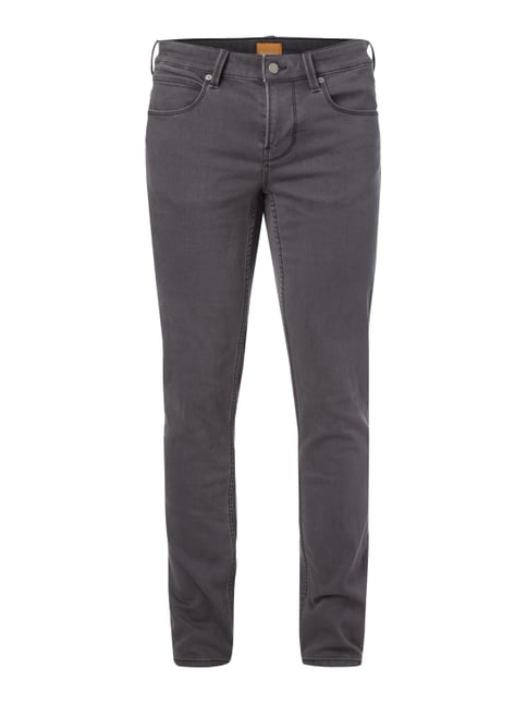 Coloured Slim Fit Sweatjeans Grau / Schwarz - 1