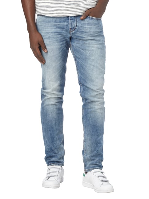 Boss Orange Double Stone Washed Tapered Fit Jeans Hellblau - 1