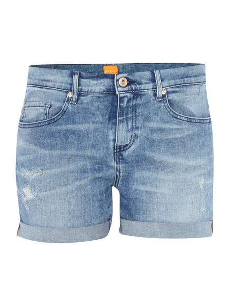 9f4264866 BOSS-ORANGE Jeans-Shorts im Used Look in Blau / Türkis online kaufen ...