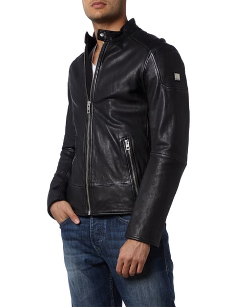 Boss orange lederjacke herren