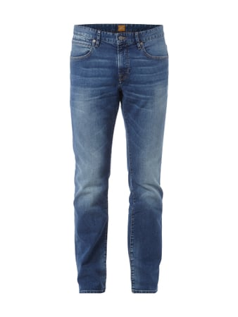 Modern Regular Fit Jeans im Stone Washed-Look Blau / Türkis - 1