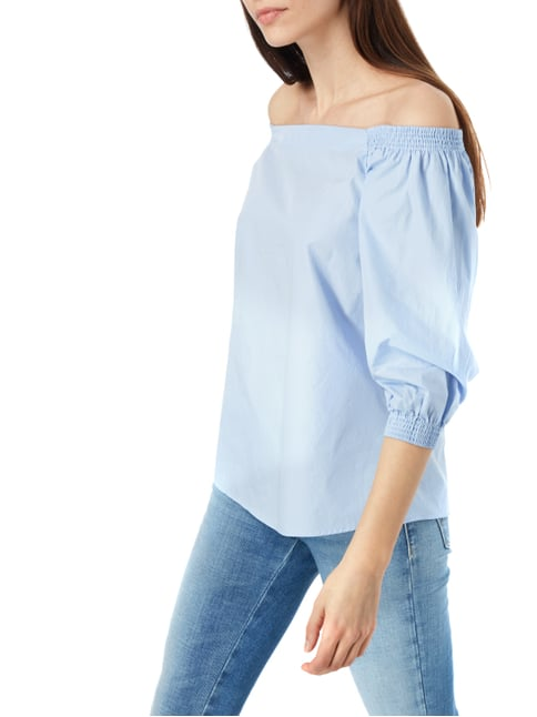 Boss Orange Off Shoulder Blusenshirt aus Baumwolle Blau - 1