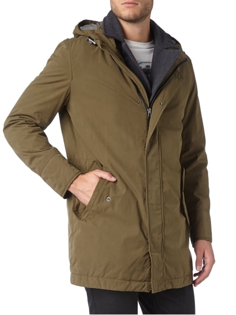 Boss Orange Parka mit Kontrastblende - wattiert Khaki - 1