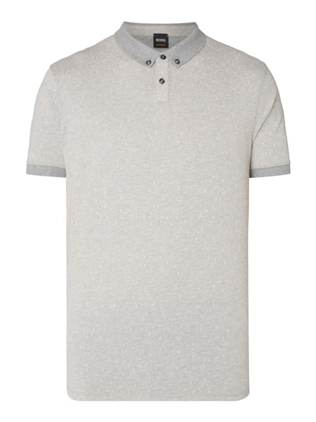 Boss Orange Parish - Poloshirt mit Button-Down-Kragen Hellgrau
