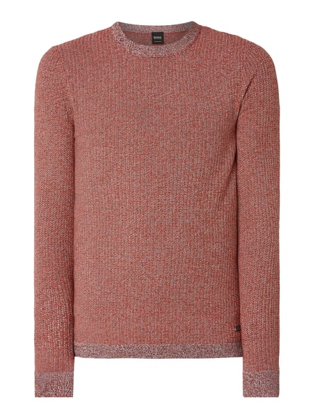 Boss Casual Pullover aus Mouliné Orange - 1