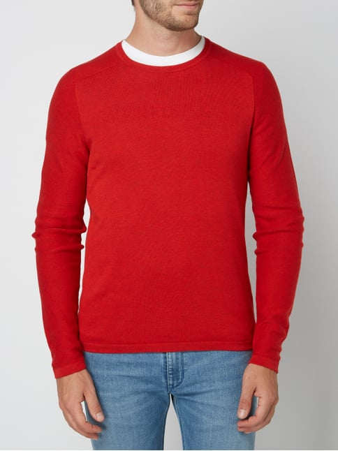 9e0b4afdc71343 ... Boss Casual Pullover mit Logo-Applikation Rot - 1