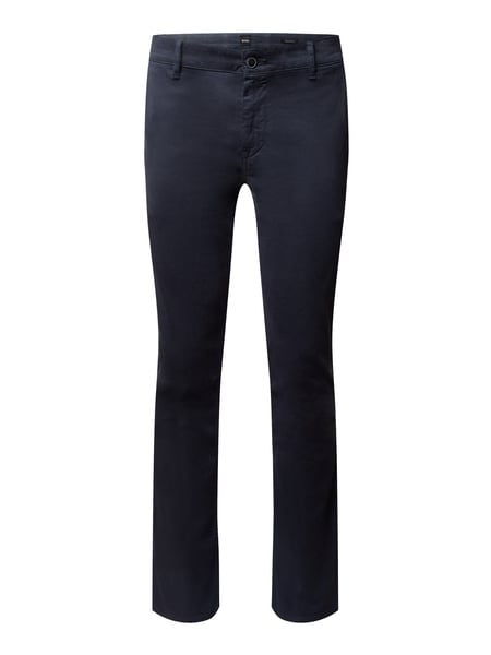 BOSS Casualwear Regular Fit Chino mit Stretch-Anteil Modell 'Schino' Blau - 1