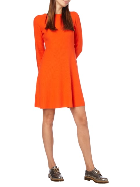 Boss Orange Regular Fit Strickkleid mit Seide-Anteil in Orange - 1