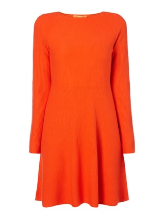 Regular Fit Strickkleid mit Seide-Anteil Orange - 1