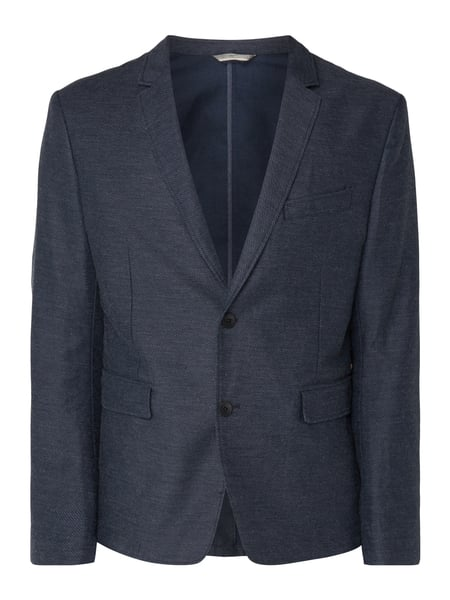Boss Orange Bedge_bs-w 10204 - Slim Fit 2-Knopf-Sakko aus Twill Dunkelblau