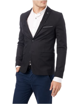 Boss Orange Slim Fit 2-Knopf-Sakko mit fallendem Revers Schwarz - 1