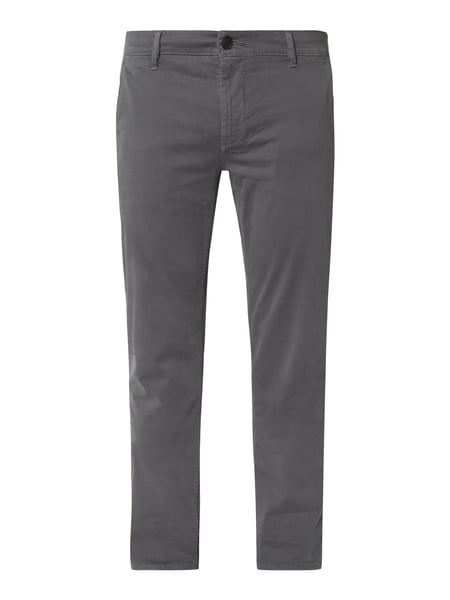 Boss Casual Slim Fit Chino mit Paspeltaschen Blau - 1