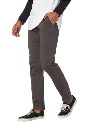 Boss Orange Slim Fit Chino mit Stretch-Anteil Anthrazit - 1