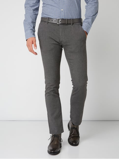 ... Boss Casual Slim Fit Chino mit Stretch-Anteil Anthrazit - 1 3120fc4085