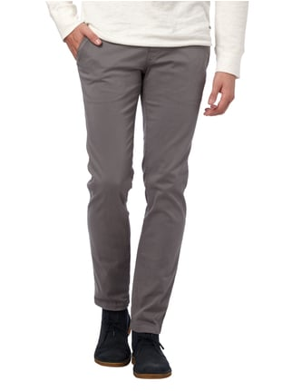 Boss Orange Slim Fit Chino mit Stretch-Anteil Mittelgrau - 1