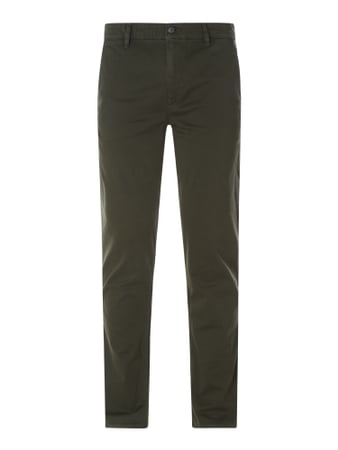 BOSS Casualwear Slim Fit Chino mit Stretch-Anteil Modell 'Schino' Grün - 1