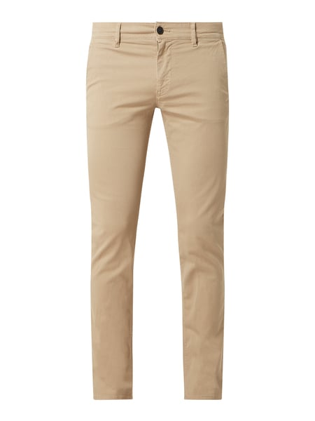 BOSS Casualwear Slim Fit Chino mit Stretch-Anteil Modell 'Schino-Slim' Beige - 1