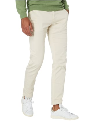 Boss Orange Slim Fit Chino mit Stretch-Anteil Offwhite - 1