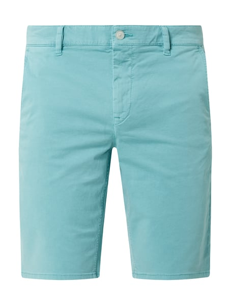BOSS Casualwear Slim Fit Chino-Shorts mit Stretch-Anteil Türkis - 1