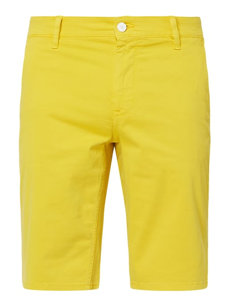 BOSS Casualwear Slim Fit Chinoshorts mit Stretch-Anteil Modell 'Schino' Gelb - 1