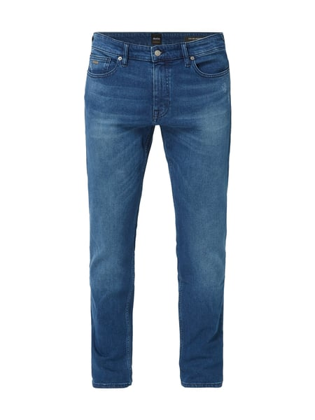 Boss Casual Slim Fit Jeans im Used Look Blau / Türkis - 1