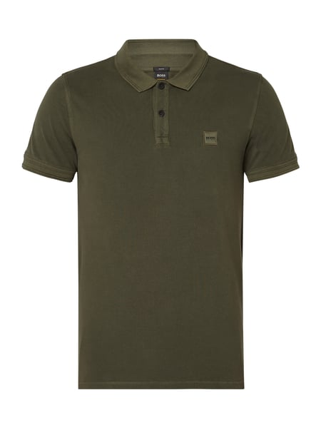 Boss Orange Prime - Slim Fit Poloshirt aus Piqué Dunkelgrün